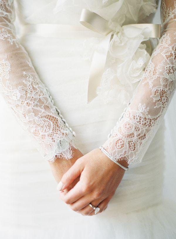 Свадьба - Bridal Gown With Long Lace Sleeves