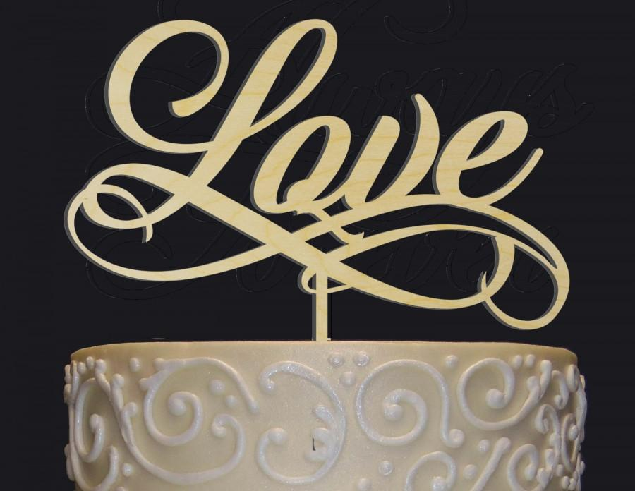 "Hochzeit - Gorgeous ""LOVE"" Cake Topper for any occasion - Bridal Shower, Engagement Party, Wedding, Anniversary, Valentine Day, Birthday Cake Topper!"