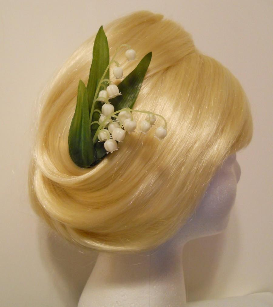 Lily Of The Valley Hair Clip White Green Spring Summer First