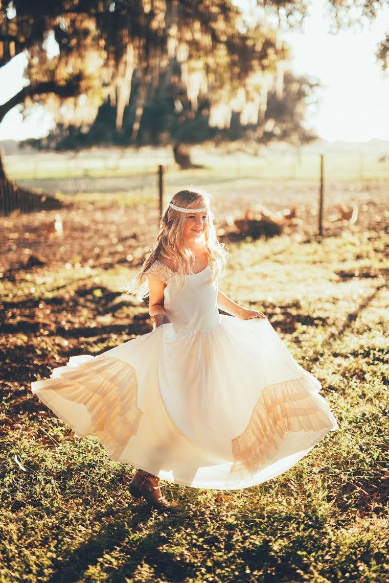 Свадьба - flower girl dresses, vintage flower girl, Girl dress, flower girl dress, toddler dress, baby dress dress, boho dress, maxi flower girl dress