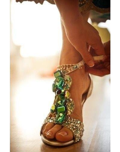 Hochzeit - Inspiration For Your Emerald Wedding Shoes