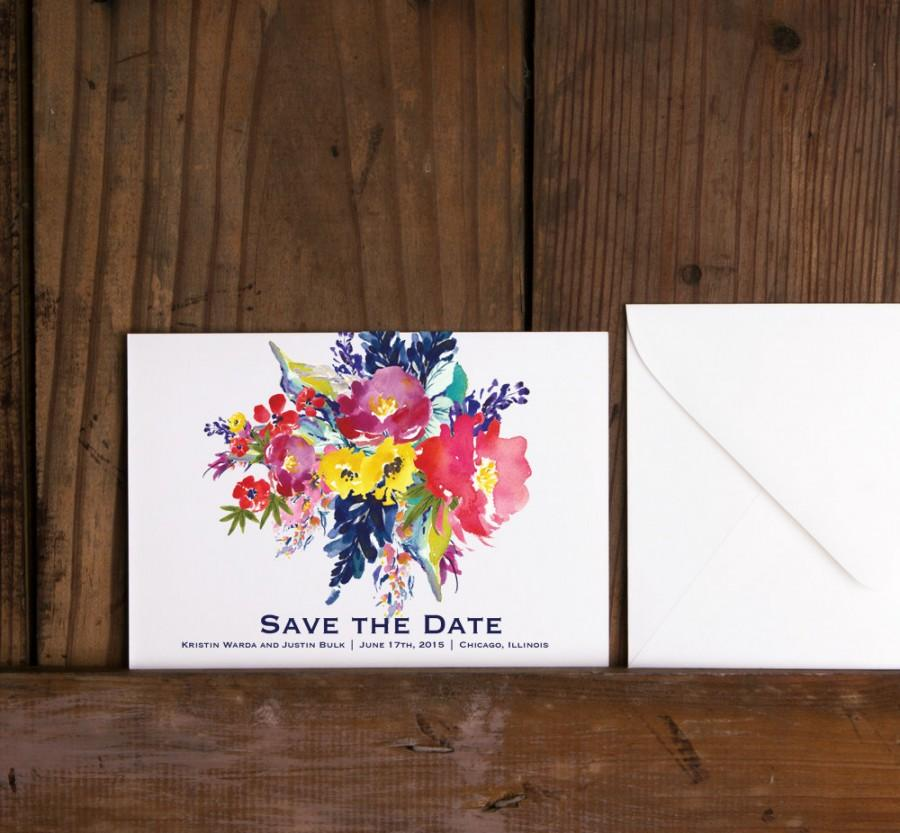 Mariage - Modern Bright Floral Save the Date,Floral Save the Date,Bright Boho Save the Date,Modern Floral Save the Date,Fall Floral Wedding Invites
