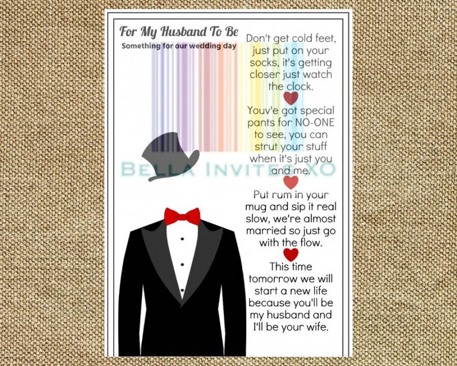 Groom Gift Idea Wedding Day Gift For Groom Wedding Day Card For