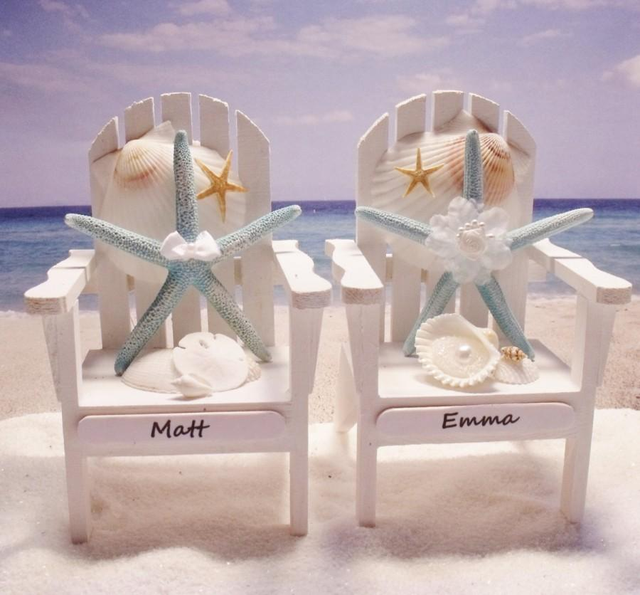 Starfish Adirondack Chairs Beach Themed Wedding Personalized