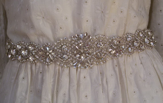 زفاف - Wedding sash belt, Wedding sash, Wedding sashes and belts , Bridal belt, Crystal bridal sash, Satin ribbon with crystal and rhinestone,