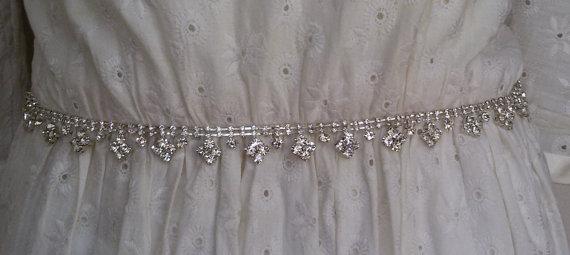 Mariage - Wedding sash belt, Wedding sash, Wedding sashes and belts , Bridal belt, Crystal bridal sash, Satin ribbon with crystal and rhinestone,