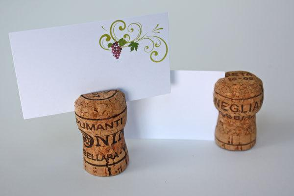 Decor Champagne Cork Place Card Holders 2482413 Weddbook