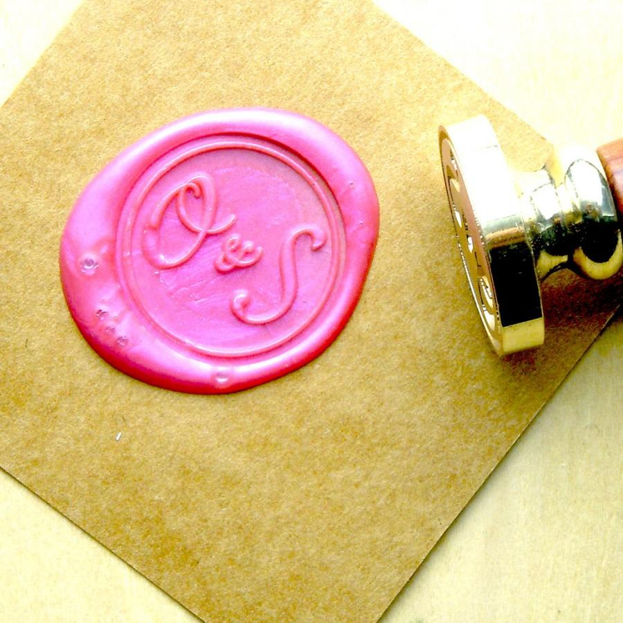 Hochzeit - Two Initials Monogram Wax Seal Stamp Custom Order