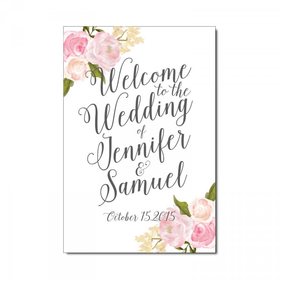 Mariage - Large Wedding Sign Printable - Vintage Wedding - Floral Wedding - Welcome Wedding Sign - Floral Sign - Vintage Wedding Sign - Reception Sign