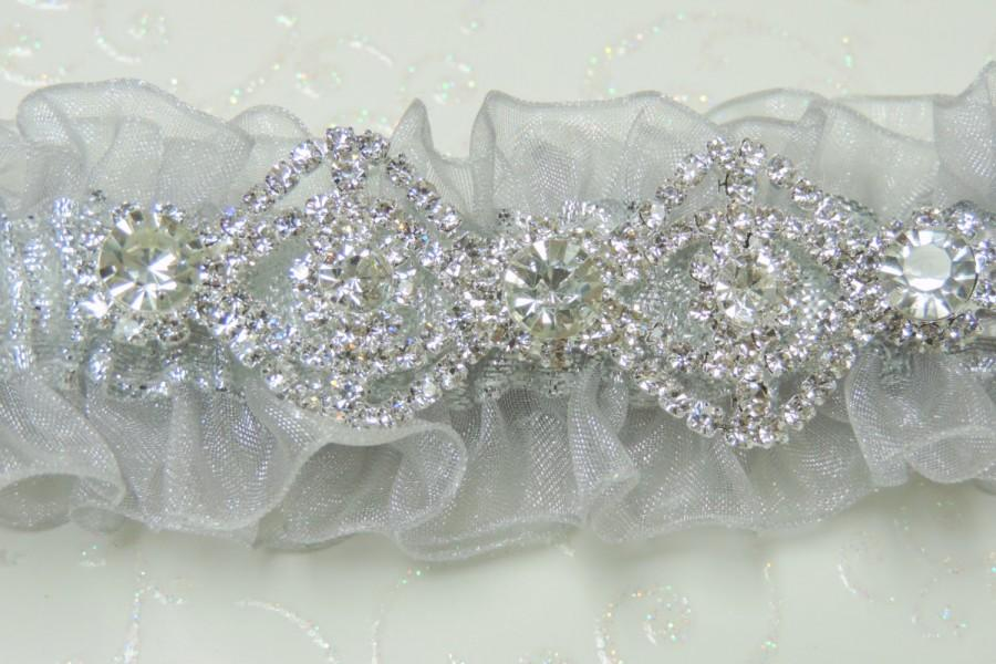 Свадьба - Silver prom garter,  Prom Garters,  Custom color prom garter,  garters