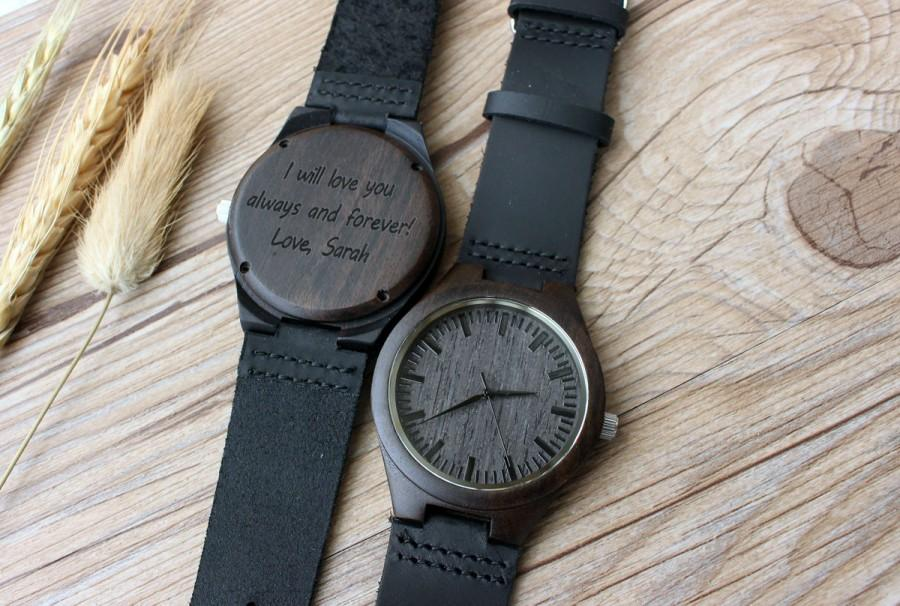 Personalization Wedding Gifts: Personalized Wooden Watch, Groomsmen Gifts, Mens Birthday