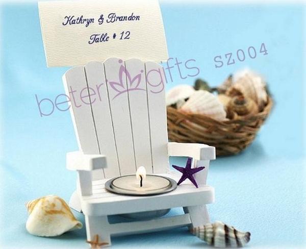 Hochzeit - BETER-SZ004 Adirondack Chair Tealight and Place Card Holder