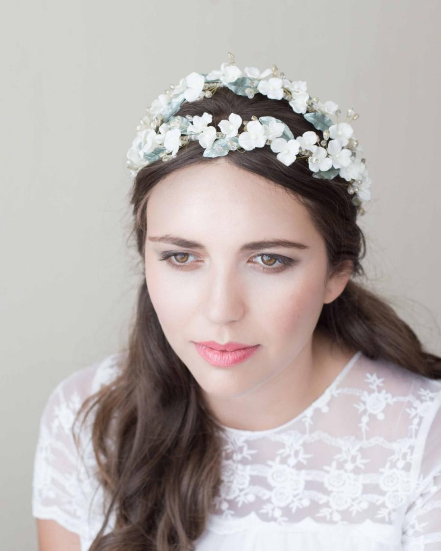 Свадьба - Crown bridal / bridal wreath / bridal headpiece / wedding headpiece / headband wedding / floral wreath / boho headpiece / MOD601 bridal Crown