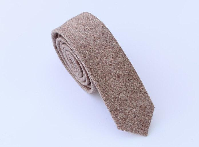 Hochzeit - Wool Ties.Light Brown Neckties.Mens Ties,Business Ties.Slim Ties