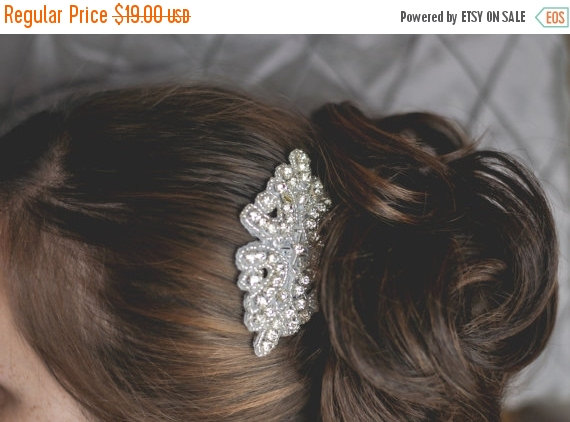 Свадьба - SALE Crystal Bridal Hairpiece, Rhinestone Wedding Hair Comb, Bridal Hairpiece, Wedding Hairpiece, Beaded Crystal Hair Accessory, Vintage Ins