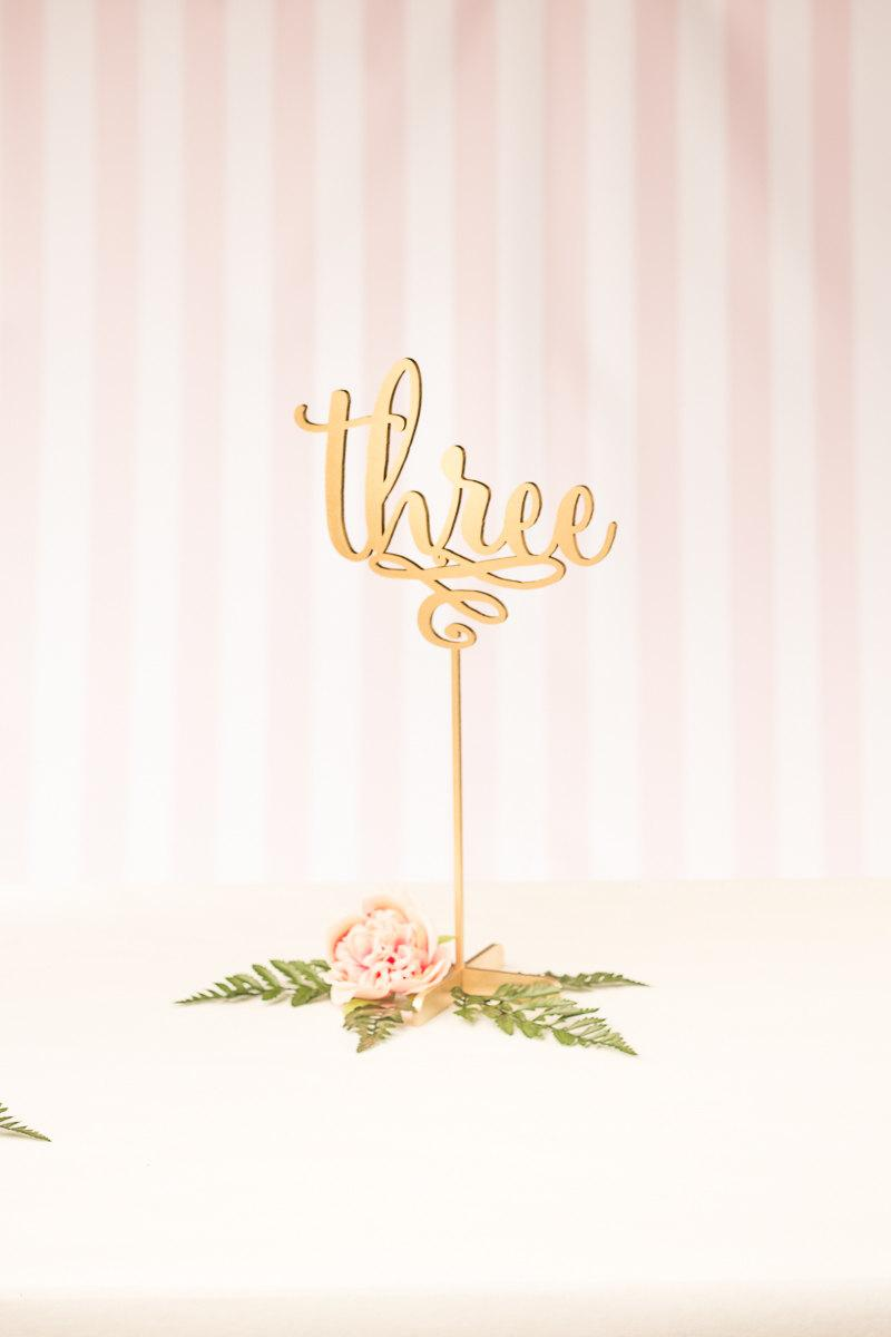 Wedding - Wedding Table Numbers - Freestanding with base - Daydream Collection