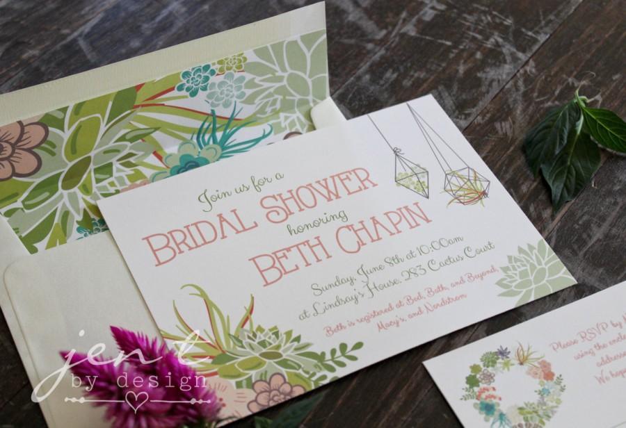 زفاف - Succulent Bridal Shower Invitations
