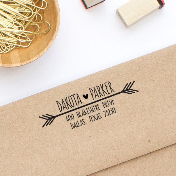 زفاف - Return Address Stamp, Wedding Address Stamp, Personalized Stamp, Custom Address Stamp, Stamp No. 108