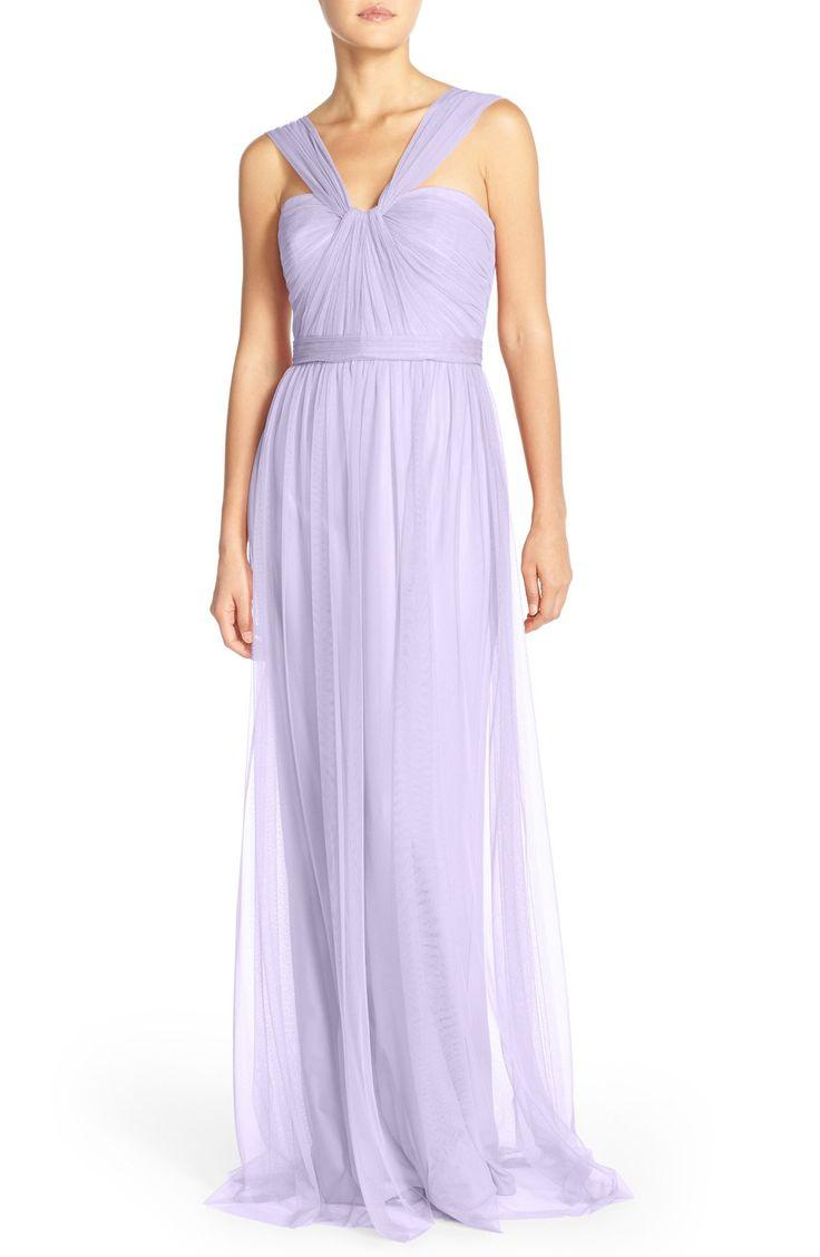 Wedding - Amsale Tulle Twisted V-Neck Gown