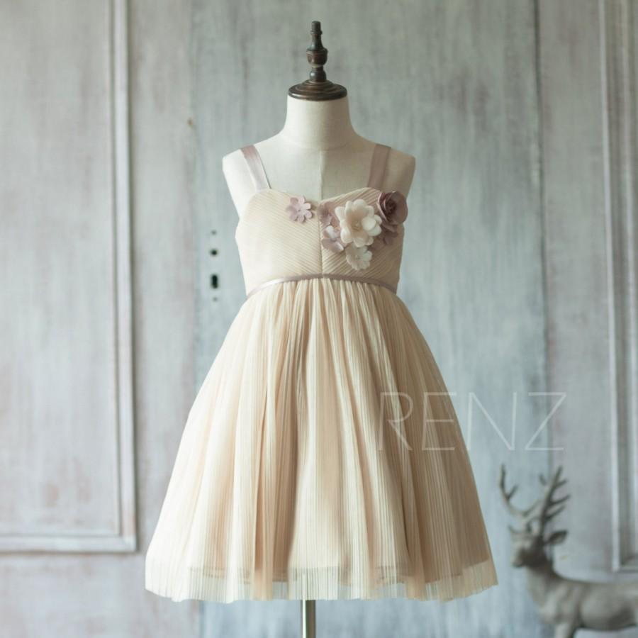 7426798179d 2016 Beige Junior Bridesmaid Dress