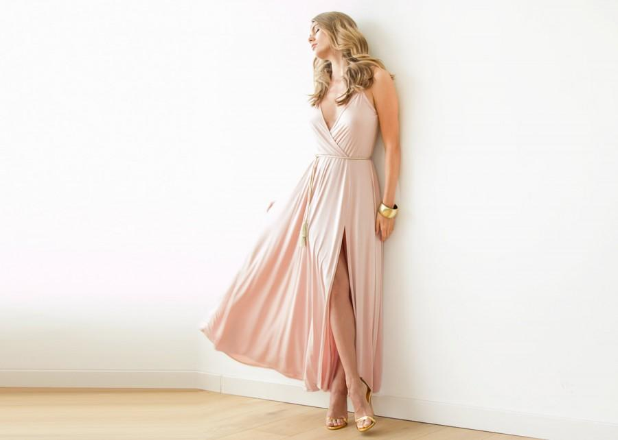 Maxi dress with slit for wedding