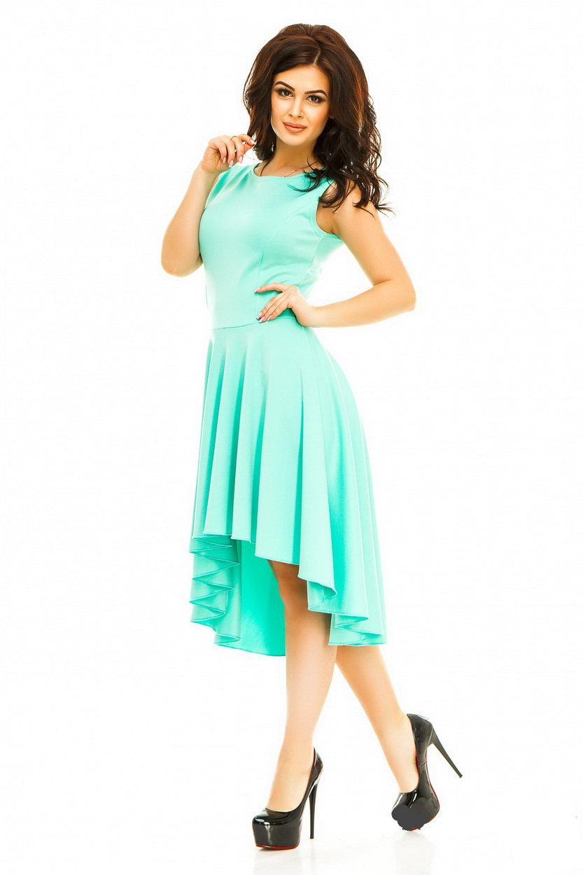 Cute Cocktail Dress Bridesmaid Mint Dress Asymmetrical Flared ...