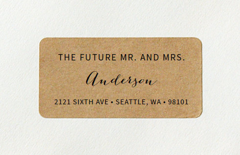 Custom Printed Return Address Labels - Future Mr And Mrs ...