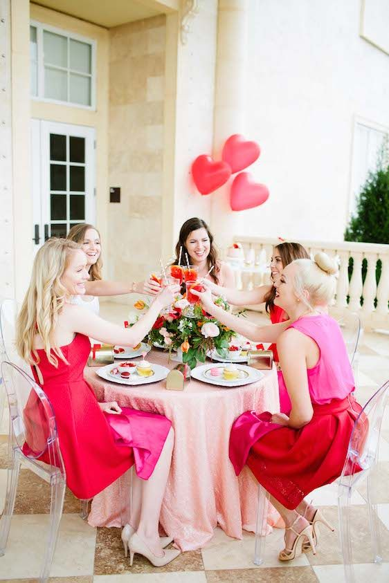 Wedding - Galentine's Day Gala With Tangerine Sangria