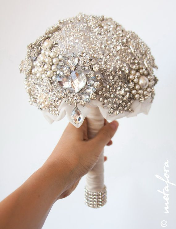 Hochzeit - Diamante Brooch Bouquet - Bridal Bouquet - Wedding Bouquet