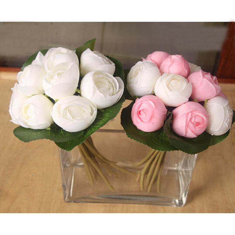 Hochzeit - 1X Rose Bouquet Artificial Silk Flowers Posy Wedding Bridal Party Home Floral Decor