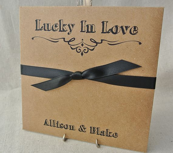 Lottery Ticket Envelopes - Rustic Wedding Favors - Lottery Favors ...