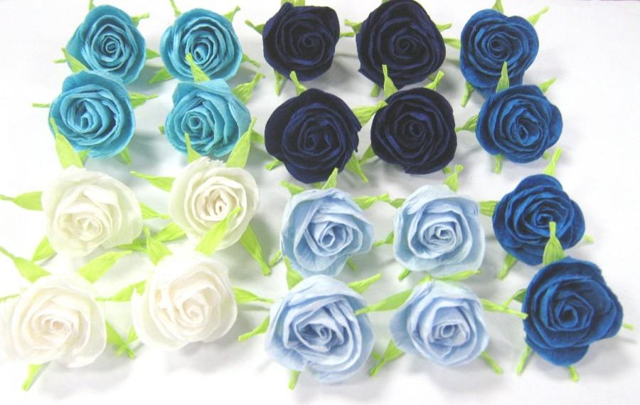 Awe Inspiring 10 Crepe Paper Mini Roses Centerpiece Decor Cupcake Topper Interior Design Ideas Gentotryabchikinfo