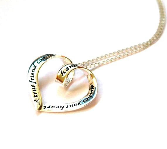 Свадьба - Maid of honour necklace - Bridesmaid Necklace - Bridesmaid Gift - Best friend Necklace - Bridal party gift - Wedding party