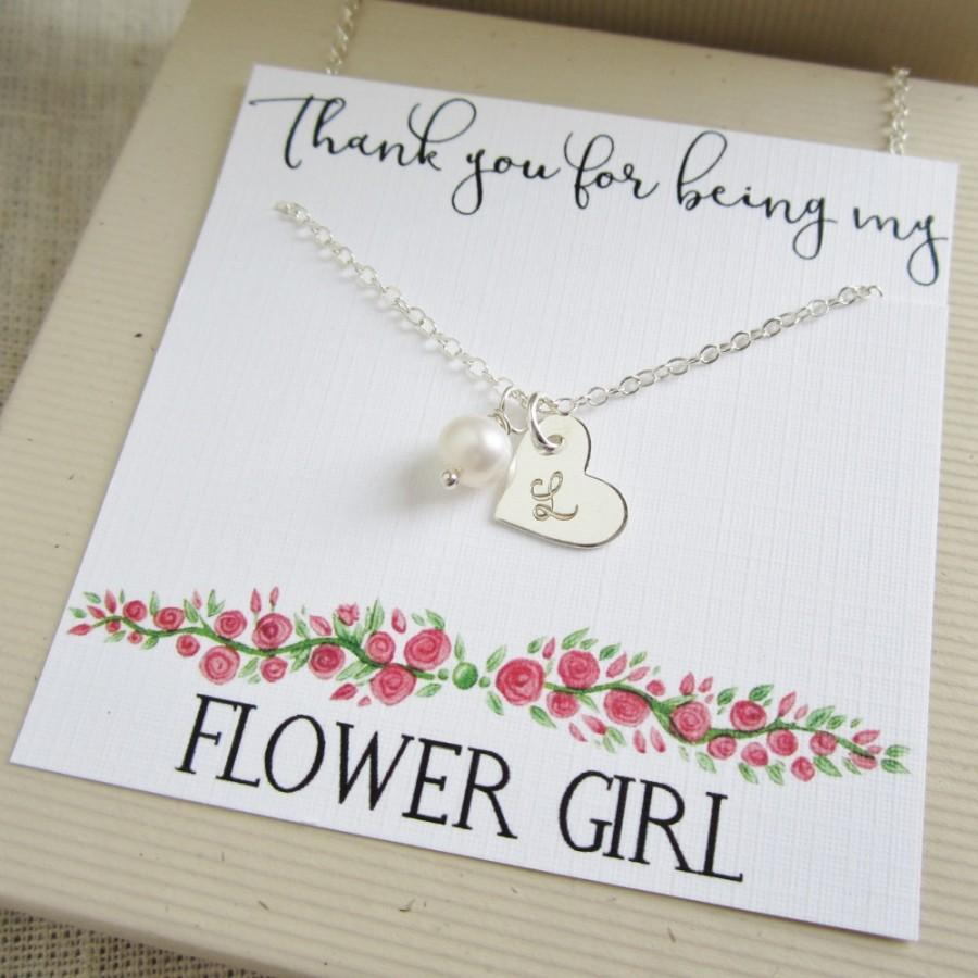 Personalized Flower Girl Gift, Flower Girl Necklace With Message ...