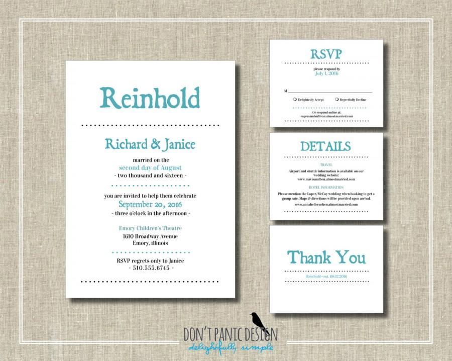 Simple Reception Invitation Pool Blue Printable Digital Wedding Vow Renewal