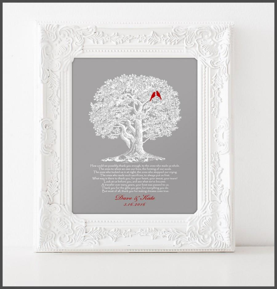 Customary Wedding Gift From Grooms Parents : Wedding - Wedding Gift for Parents from Bride and Groom, Thank you ...