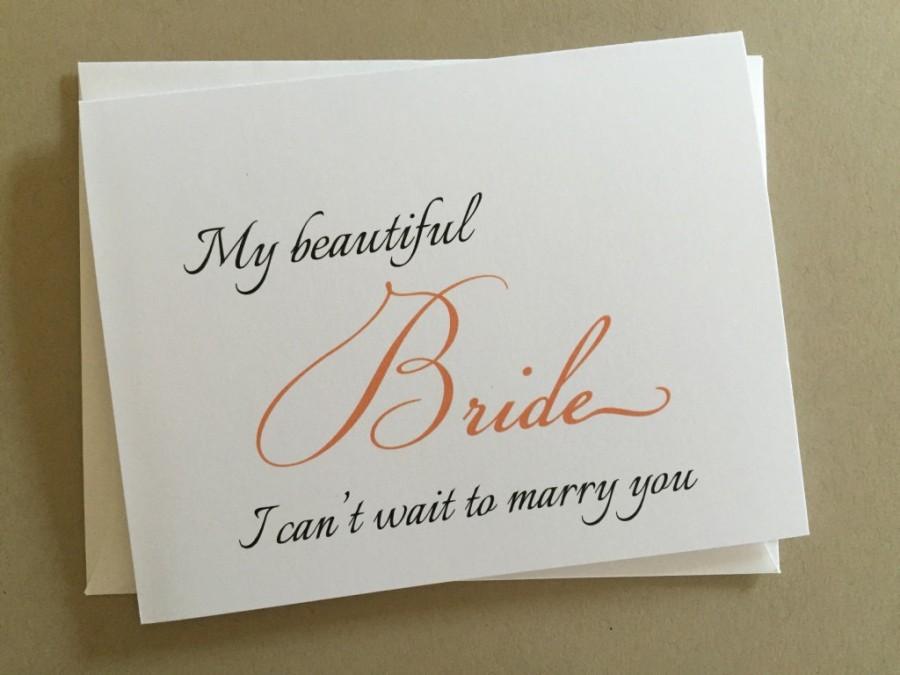 Wedding - To my Bride on my Wedding Day Card,Wedding Day Printed Card, A2 Wedding Day Card(WDC-F12)