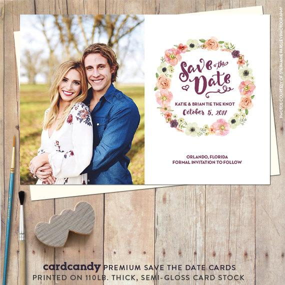 Save The Date Magnet, Save The Date Postcard, Rustic Save The Date ...