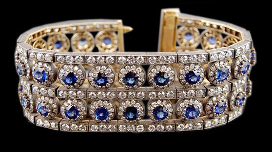 Свадьба - 18kt. Gold Diamond Sapphire Bracelet - Yafa Jewelry