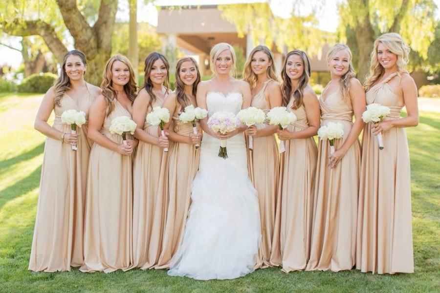 Свадьба - Wrap Multiway Bridesmaids Dresses- Any SIze Available!  EVERY Convertible Dress Tailored!    Blush Dusty Blue Slate Rose Nude Lavender Sage