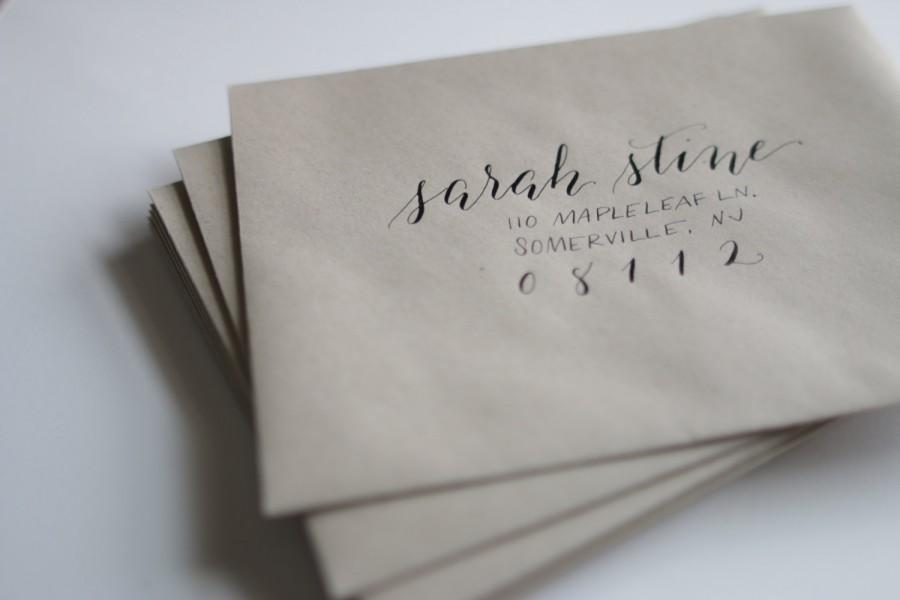 Calligraphy Addressing Service Per Outer Inner Envelope Set