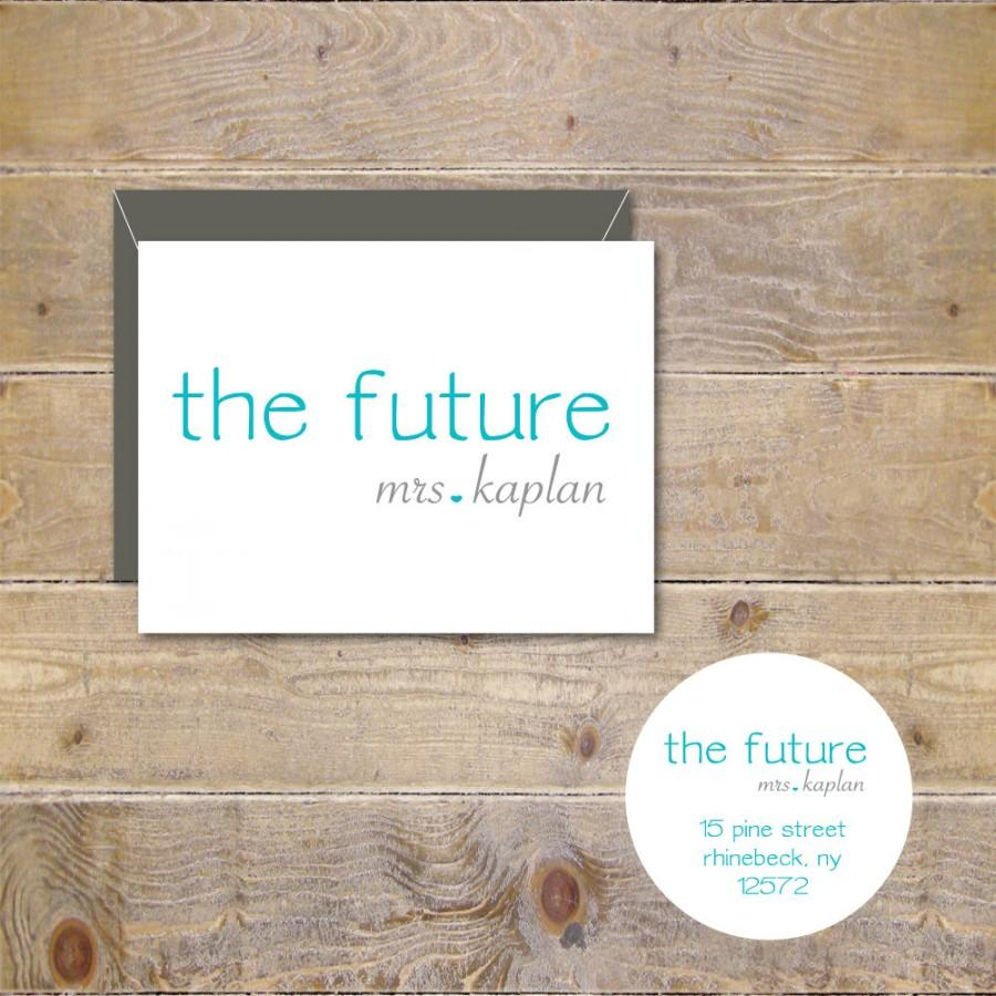 Mariage - The Future Mrs, Bridal Shower, Bridal Shower Thank  You Cards, Soon To Be Mrs, Future Mrs, Affordable Weddings, Thank You Cards