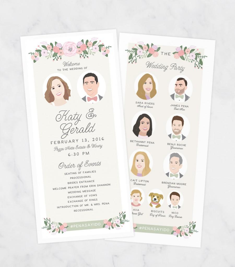 Mariage - Unique Wedding Program - Printable Program - Ceremony Program - Boho Ceremony Program - Rustic Wedding Pogram