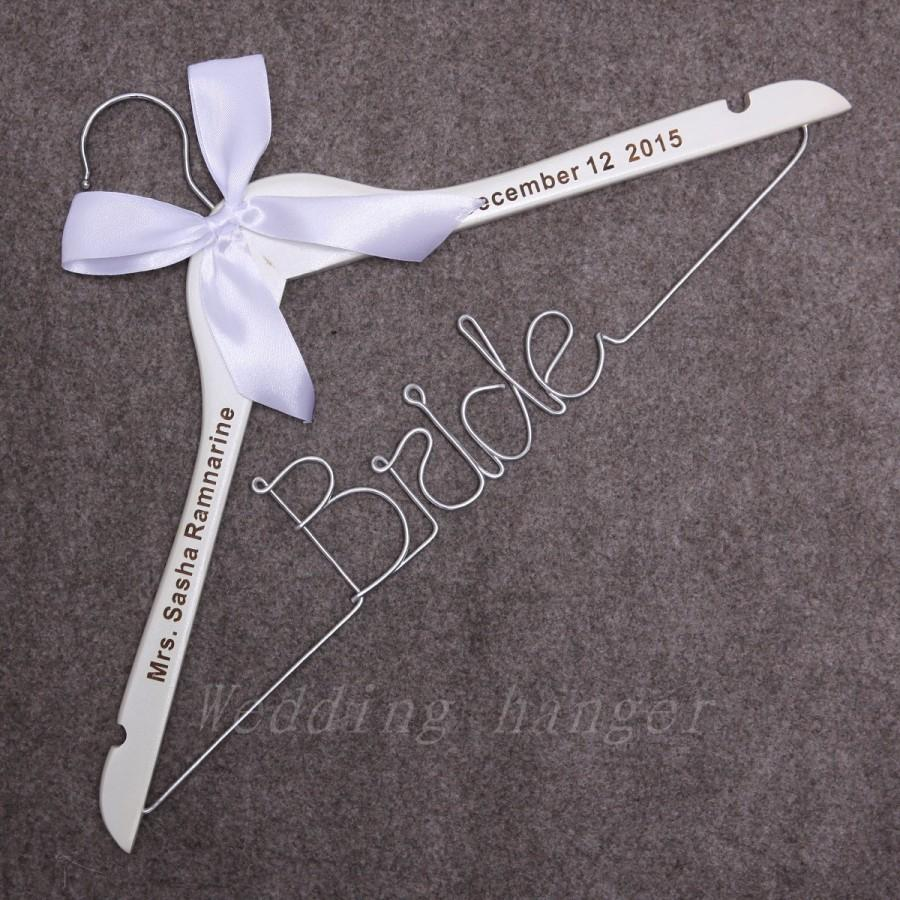 Bride Hanger, Wedding Dress Hanger, Bridal Hanger, Single Line Bride ...