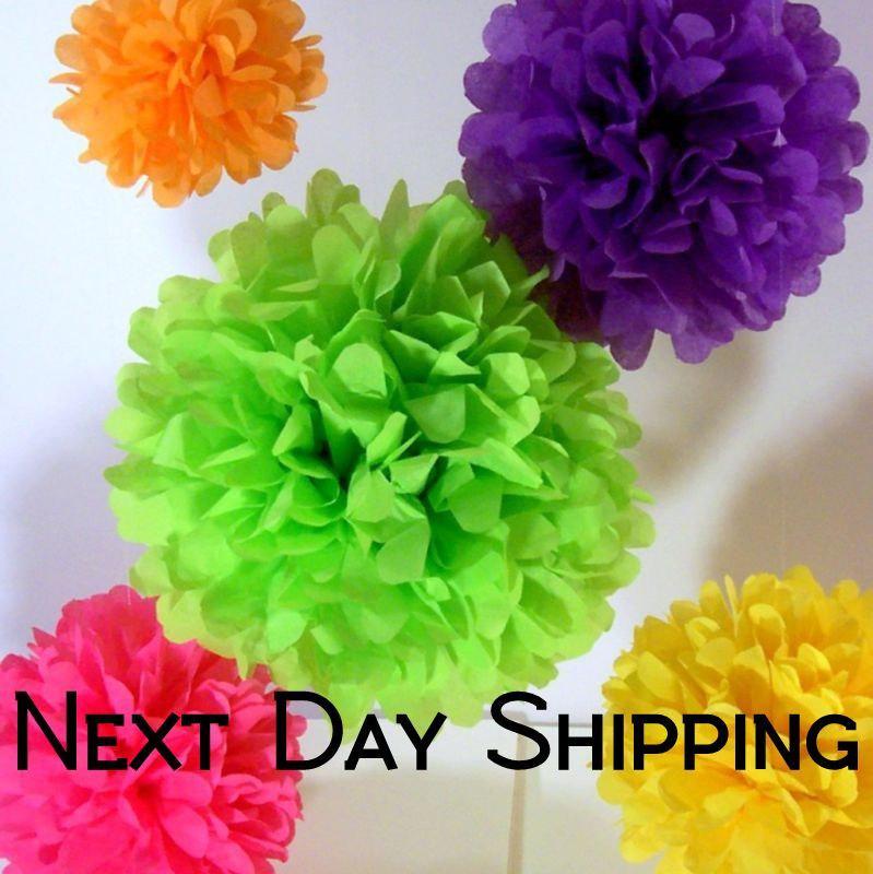 زفاف - Tissue Paper Pom Poms - 5 Piece - Ships within ONE Business Day - Tissue Poms - PomPom - Tissue Pom Poms - Choose Your Colors!