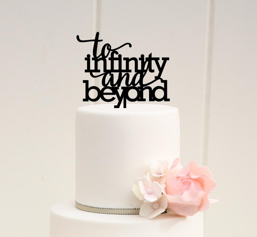 زفاف - To Infinity and Beyond Wedding Cake Topper - Custom Cake Topper