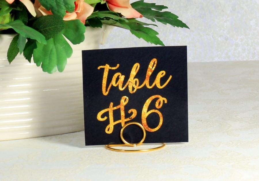 Mariage - Gold Wire table number holders - Bridal Shower Pen, Shabby Chic Pen - Bride and Groom - Rustic Country Chic Wedding