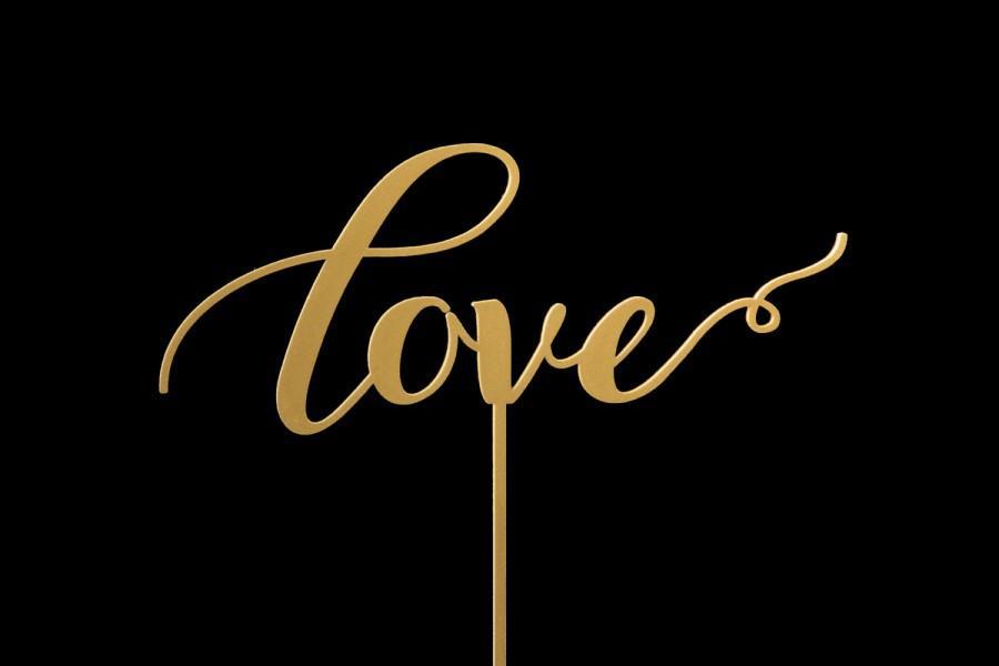 "Mariage - SaleThe ""Love"" wedding cake topper"