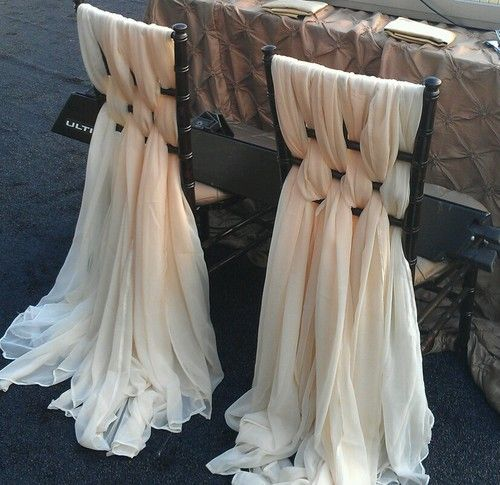 Hochzeit - WOW..Elegant Or Vintage Look Lush Chiavari Chair Chiffon Treatment Event/Wedding