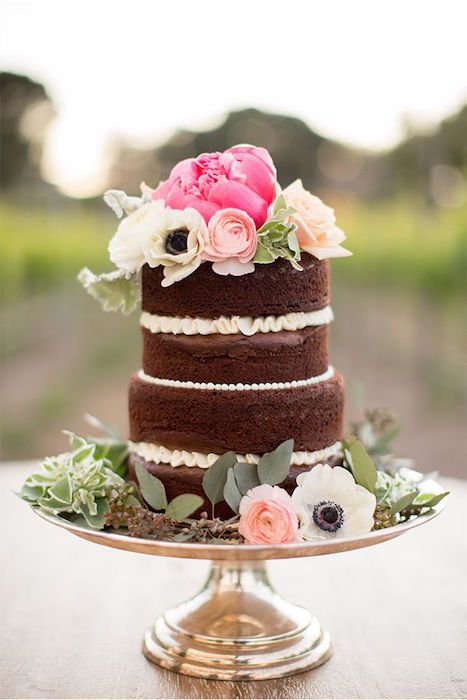 Mariage - 10 Tempting Chocolate Wedding Cakes